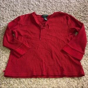 Ralph Lauren Red Top